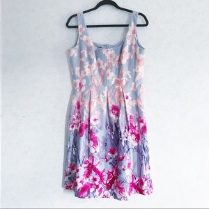 Nine West Floral fit and flare dress